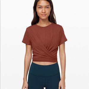 Lululemon short sleeve tie shirt